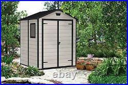 Garden Storage Shed, Beige, 6 x 5 ft