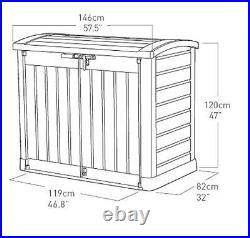 Keter Arc Store-It-Out Max Weather Resistant Bike Shed Garden Furniture 1200L