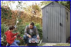 Keter Darwin Shed Grey 6 X 4 Ft Waterproof Garden Storage Shed