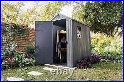 Keter Darwin Shed Grey 6 X 4 Ft Waterproof Outdoor Garden Storage