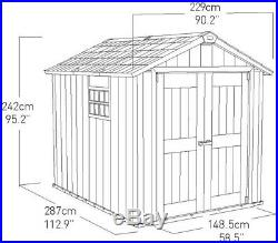 Keter Plastic Garden Storage Shed 7ft6 x 9ft4 Composite 10 Year Guarantee NEW