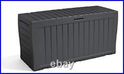Keter Sherwood Outdoor Plastic Storage Box Garden Furniture Waterproof Container