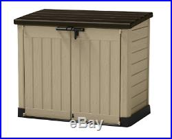 Keter Store-It Out Max Outdoor Plastic Garden Storage Shed, Beige and Brown, 145
