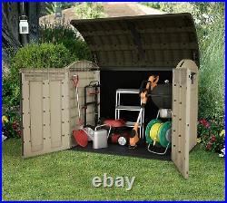 Keter XXL Store-It Out Ultra Outdoor Plastic Garden Storage Bike Shed, Beige