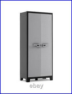 Water Resistant High Tall Plastic Cupboard Garden Storage Box Outdoor Locker